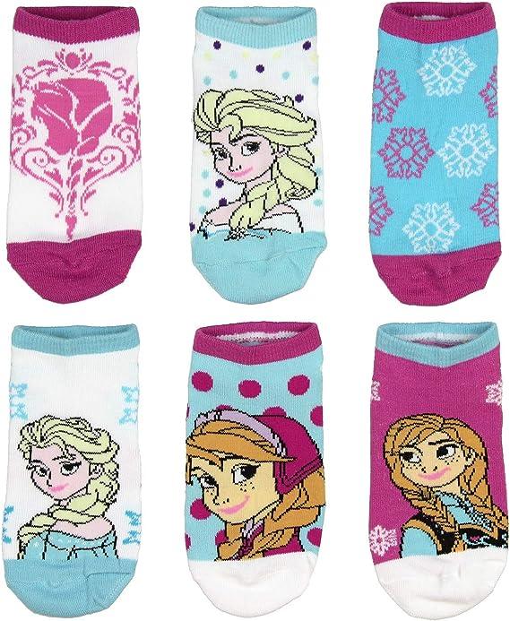Multi-color Children/'s Beautiful Polyester Sock Frozen Cartoon Elsa//Anna Printed