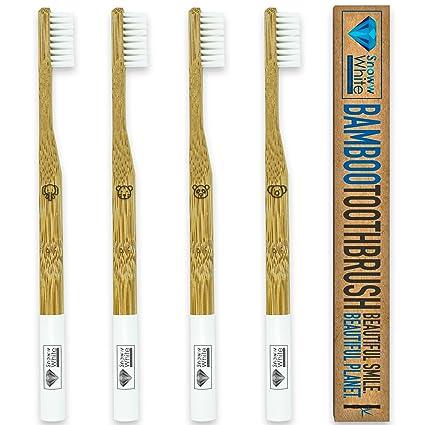 Bambú mano cepillo de dientes (4 piezas)