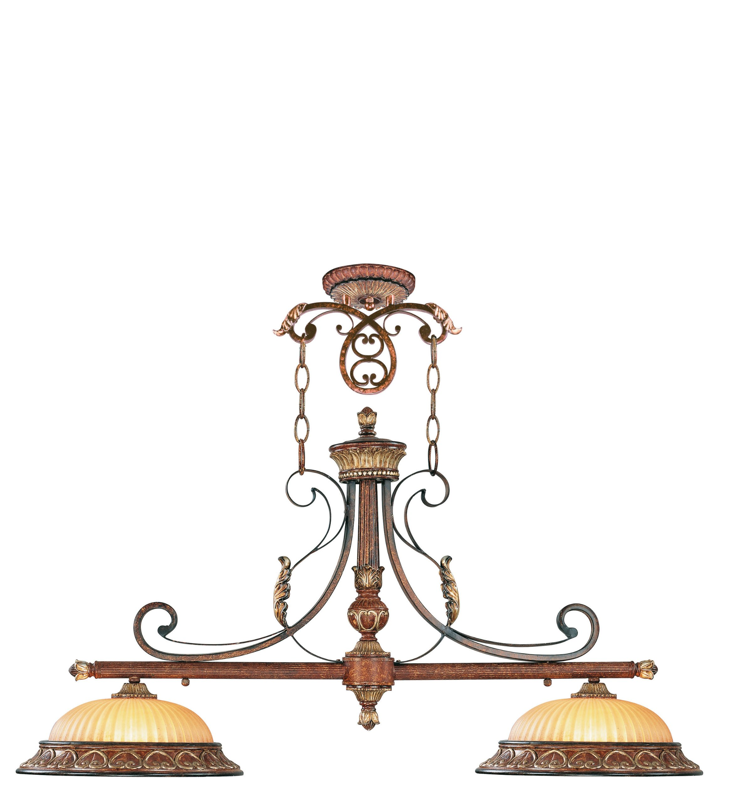 Livex Lighting 8582-63 Villa Verona Bronze with Aged Gold Leaf Accents Island