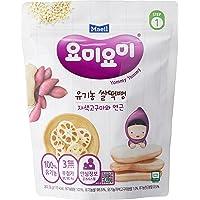 Maeil Organic Rice Rusk Purple Sweet Potato and Lotus Root, 30g