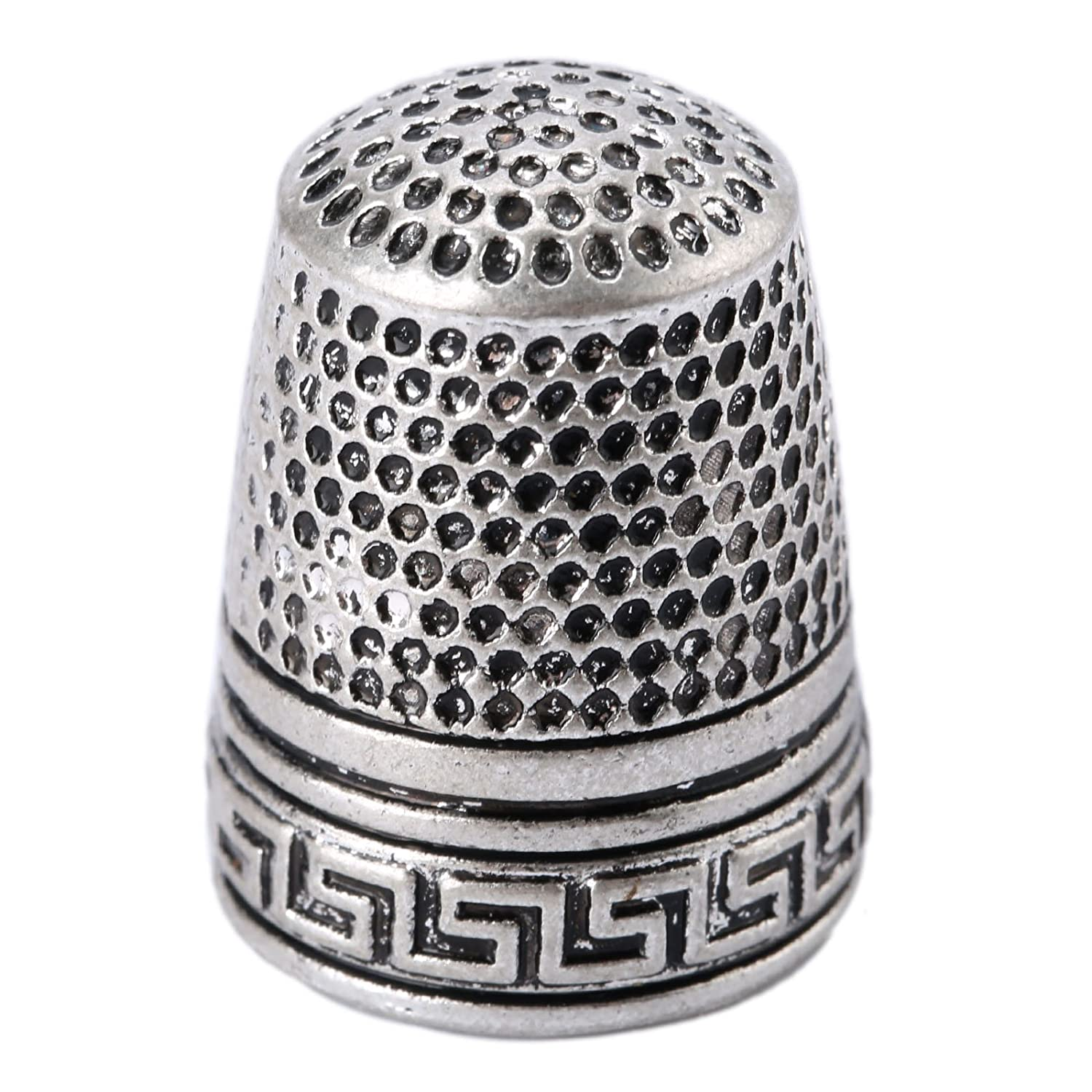 10Pcs Silver Finger Thimble Sewing Grip Fingertip Protector Metal Shield Pin Needles Partner for DIY Crafts Tools Needlework Mtsooning