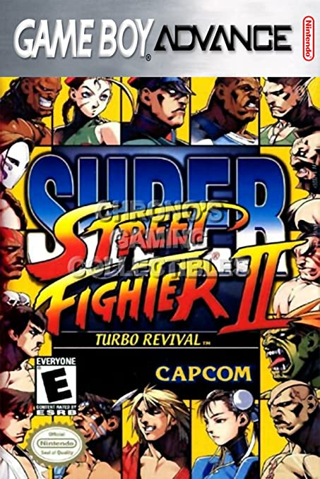 CGC Huge Poster - Super Street Fighter II Turbo Revival - Nintendo Game Boy Advance GBA
