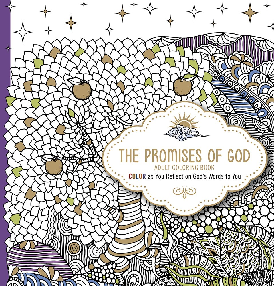 Amazon Com The Promises Of God Adult Coloring Book Color As You