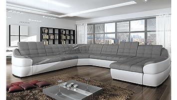 justyou infinity xl comfort canap dangle panoramique sofa ensemble de salon simili cuir tissu - Canape Cuir Angle