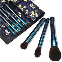 Makeup Brush Set with Travel Bag Case, 8pcs Premium Cosmetic Makeup Brushes for Foundation Blending Blush Concealer Eye…