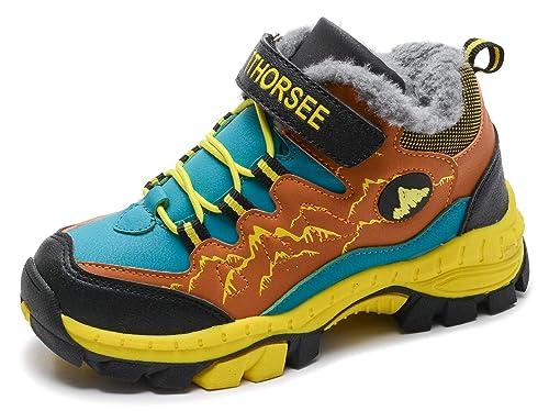 bec30e73f8ec2 Zapatillas de Trekking y Senderismo para Niños Botas para Nieve al Aire  Libre de Niño Zapatos de Cálido Forro Algodón Invierno  Amazon.es  Zapatos y  ...