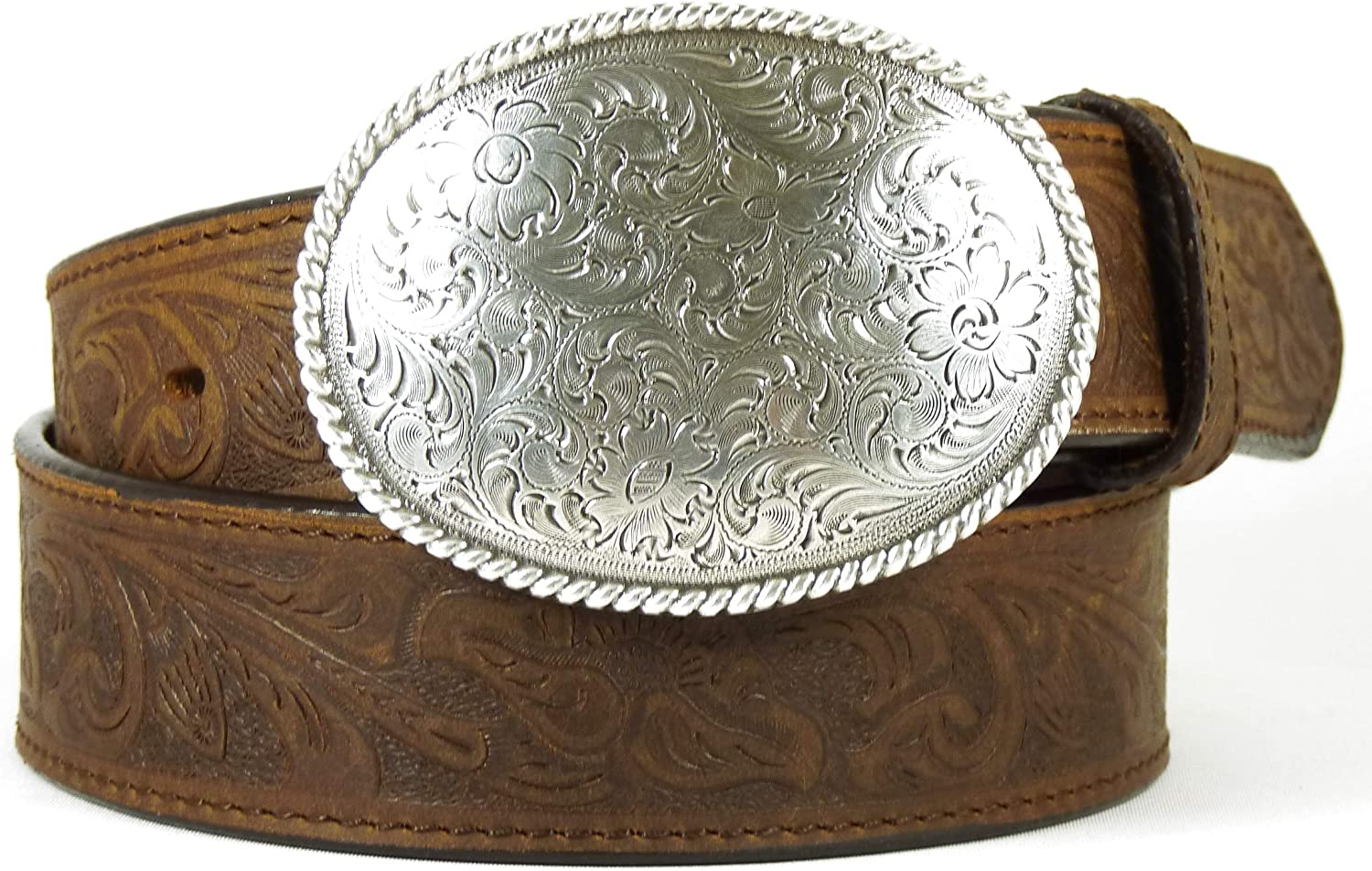 femme//homme boucle ovale//motif floral Nocona USA Ceinture style western//cowgirl//cowboy