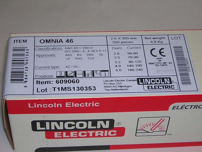Lincoln-Kd 609060 - Electrodo Rutilo Omnia 46 25X350: Amazon.es: Bricolaje y herramientas