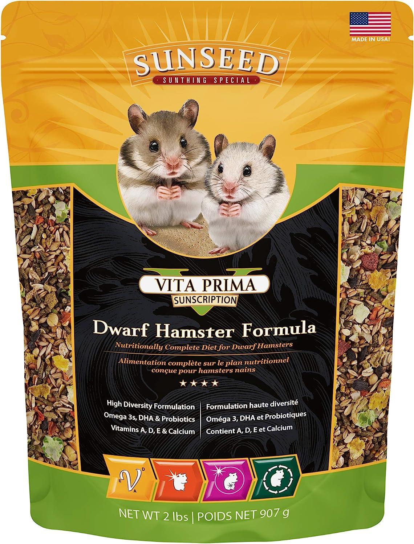 Sunseed 36070 Vita Prima Sunscription Dwarf Hamster Food - High-Variety Formula - 2 LBS