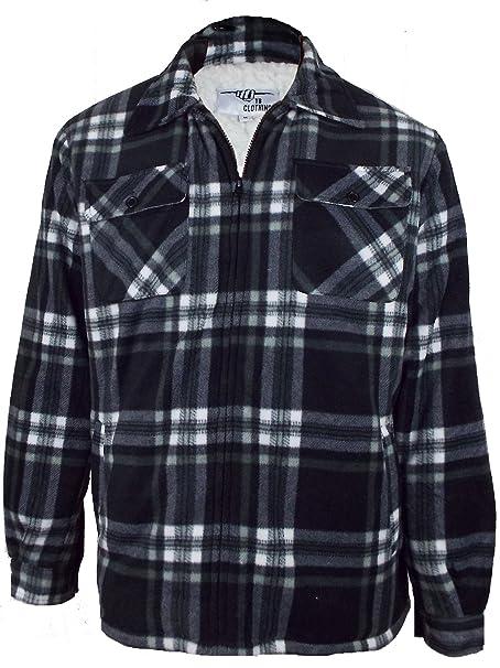 brand new d5929 05a21 Camicia da uomo foderata, pelliccia di qualità Sherpa ...