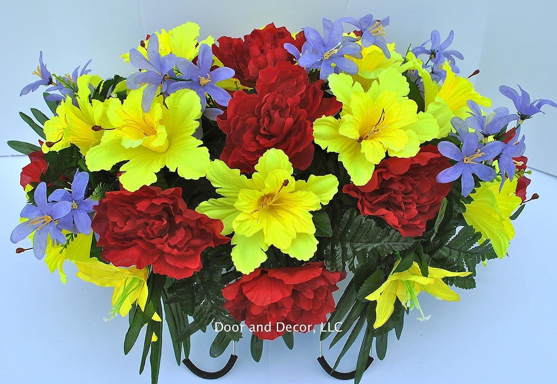 Amazon Cemetery Flowerssummer Daffodil Mixheadstone Saddle
