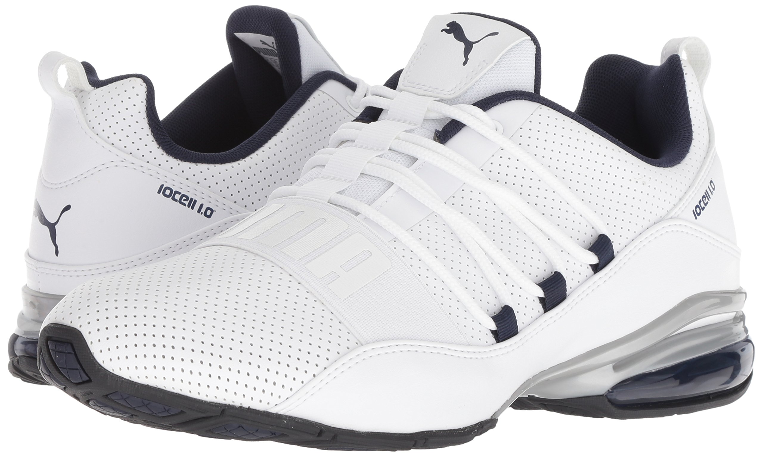PUMA Men's Cell Regulate SL Sneaker, White Black-Peacoat Silver, 7 M US by PUMA (Image #5)