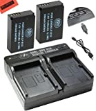 BM Premium 2-Pack Of LP-E12 Batteries and USB Dual Battery Charger for Canon Rebel SL1 100D, EOS-M, EOS M2, EOS M10 Mirrorless Digital Camera