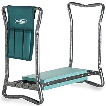 garden kneelers. VonHaus 2-in-1 Portable Folding Garden Kneeler Bench And Seat Stool With Tool Kneelers L