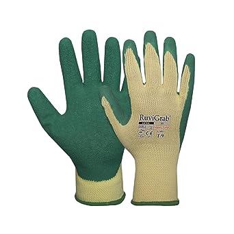Ruvigrab Guante soporte algodón 5 hilos, recubrimiento látex natural rugoso: Amazon.es: Industria, empresas y ciencia