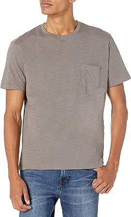 Organic Signatures Men's Lightweight 100% Organic Cotton Slub Crewneck Pocket T-Shirt