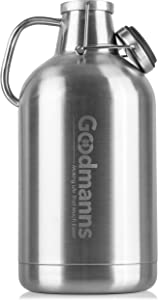 Super Growler;1 Gallon (128oz) Stainless Steel, Double Wall Insulated, with Flip Top