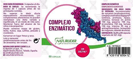Naturlíder Complejo Enzimático Suplementos para Salud ...