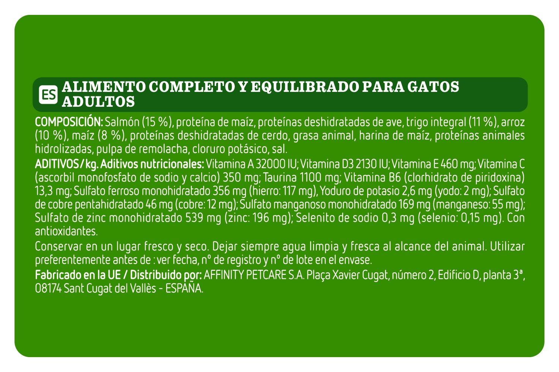 Ultima Pienso para Gatos Adultos con Salmón - Paquete de 5 x 3000 gr - Total: 15000 gr: Amazon.es: Productos para mascotas