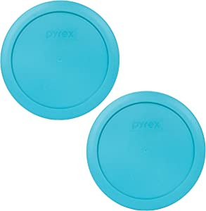 Pyrex 7201-PC 4 Cup Surf Blue Round Plastic Food Storage Lid - 2 Pack