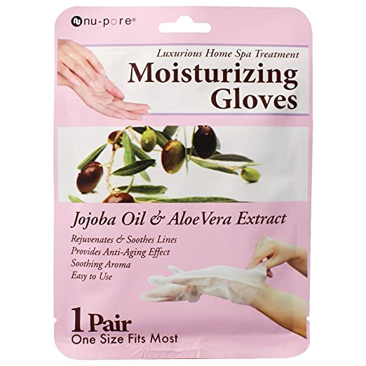 Nu-Pore Moisturizing Gloves, Case of 24