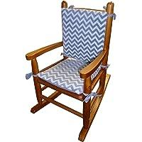 Baby Doll Bedding Minky Chevron Junior Rocking Chair Pad, Grey