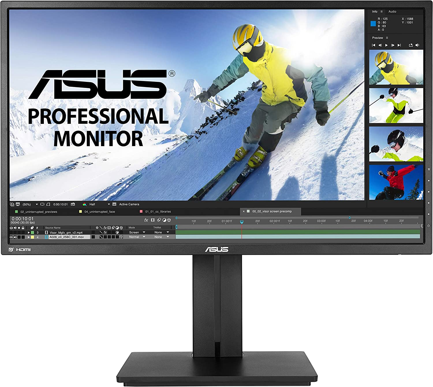 ASUS PB258Q - best dual monitor setup for programming