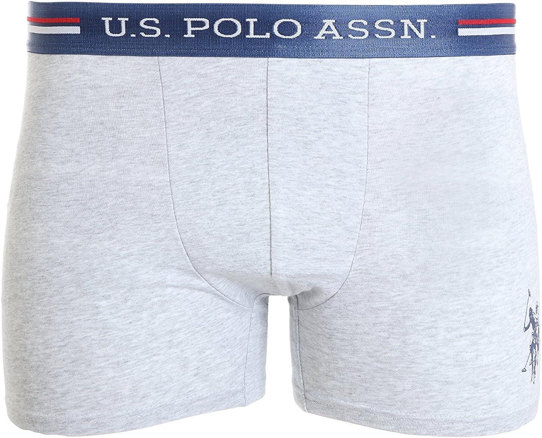 U.S POLO ASSN Boxershorts Unterhose Größe XL 2 er Pack Schwarz+Grau