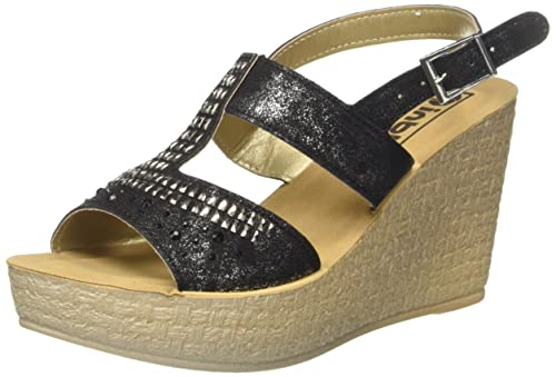 d171755ed2b3 INBLU Clelia, Sandali con Tacco Donna, Nero, 38 EU: Amazon.it ...