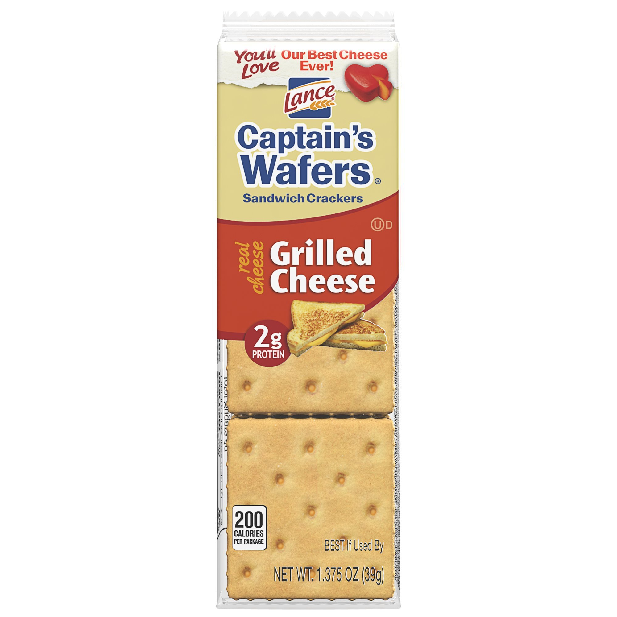 Lance Captain's Wafers Sandwich Crackers, Grilled Cheese, 1.375 Ounce (Pack of 120) by Lance