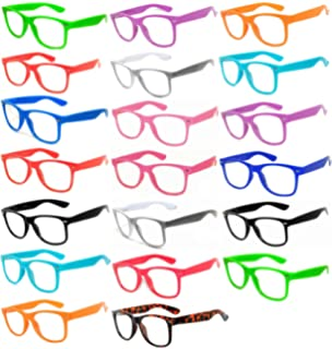 f6ccccb1288f (20 Pieces Per Case) Wholesale Lot Clear Lens Glasses. Assorted Colored  Frame Fashion