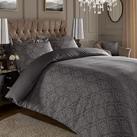 Asab Super King Duvet Cover Set With Oxford Pillow Cases Jacquard