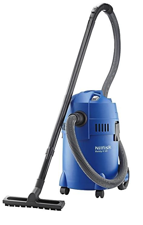 Nilfisk 18451124 Buddy II 18 - Aspirador de agua polvo de 18 litros para usos domésticos, potencia máxima 1200 W, Azul, 36 x 33 x 53 cm