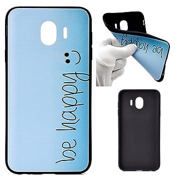 Funluna Funda Samsung Galaxy J4 2018, Ultra Delgado Protectiva Carcasa de Silicona Gel TPU Bumper Case Funda para Samsung Galaxy J4 2018
