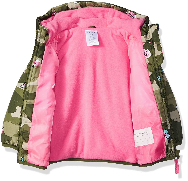 b338a64d3 Amazon.com: Carter's Girls' Fleece Lined Puffer Jacket Coat: Clothing