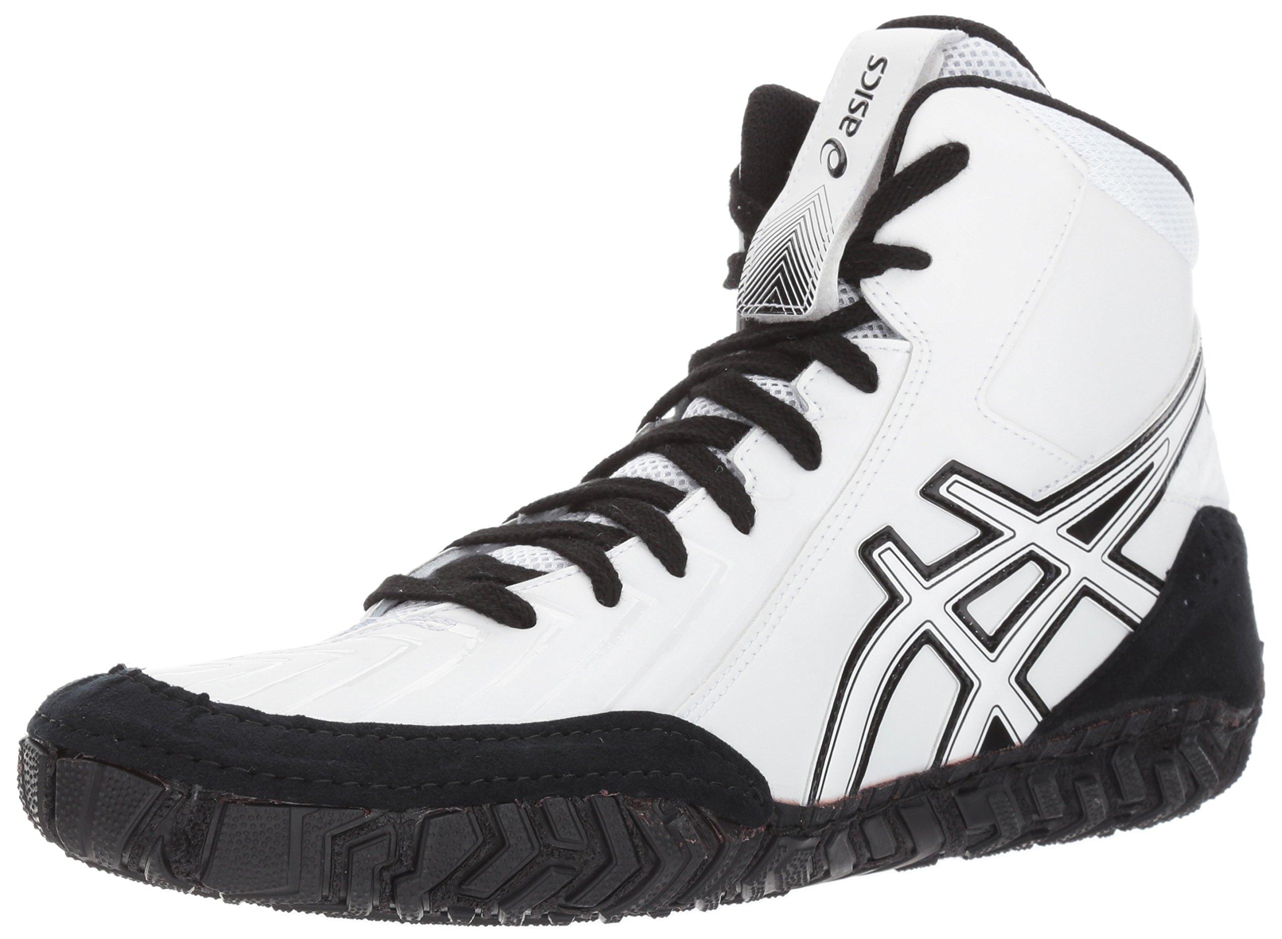ASICS Men's Aggressor 3 Wrestling Shoe, White/White/Black, 15 Medium US by ASICS