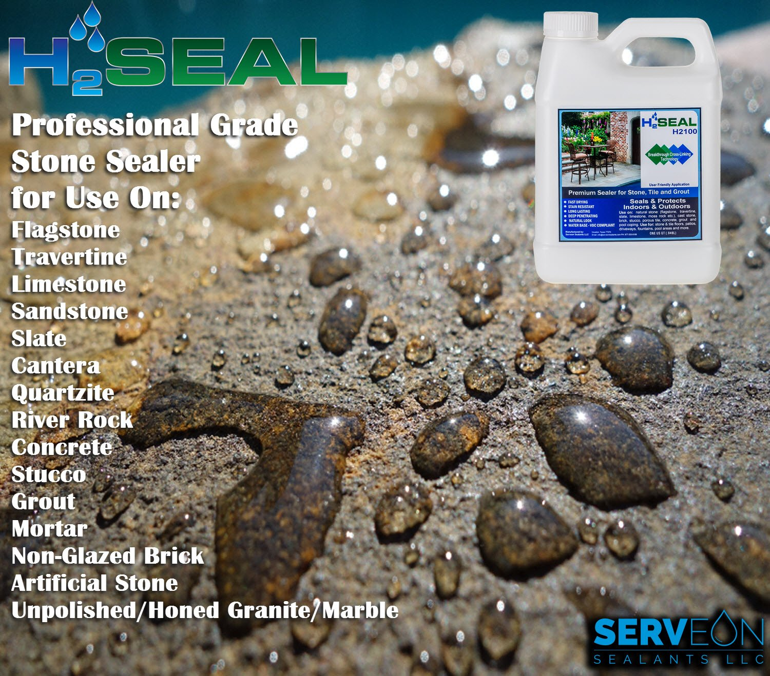 Amazon.com: Sellador para piedra Serveon Sealants H2Seal ...