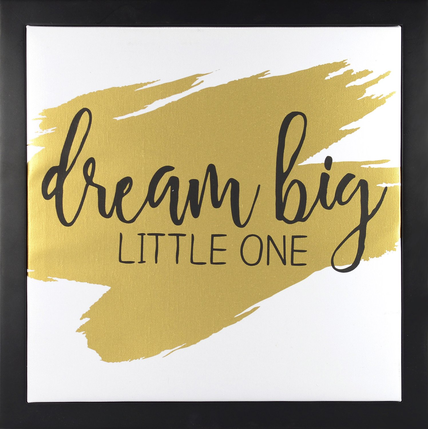 Linden Ave Wall Décor AVE10051 Dream Big Little One Gold