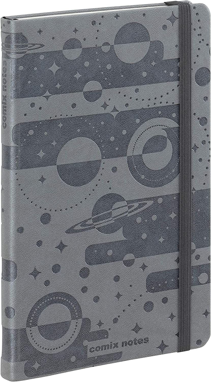 NOTES COMIX SPECIAL LARGE GRIGIO ARGENTO PAGINE BIANCHE