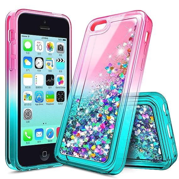 2e0cd2438d iPhone 4S Case, iPhone 4 Glitter Case for Girls Kids Women, NageBee Liquid  Quicksand