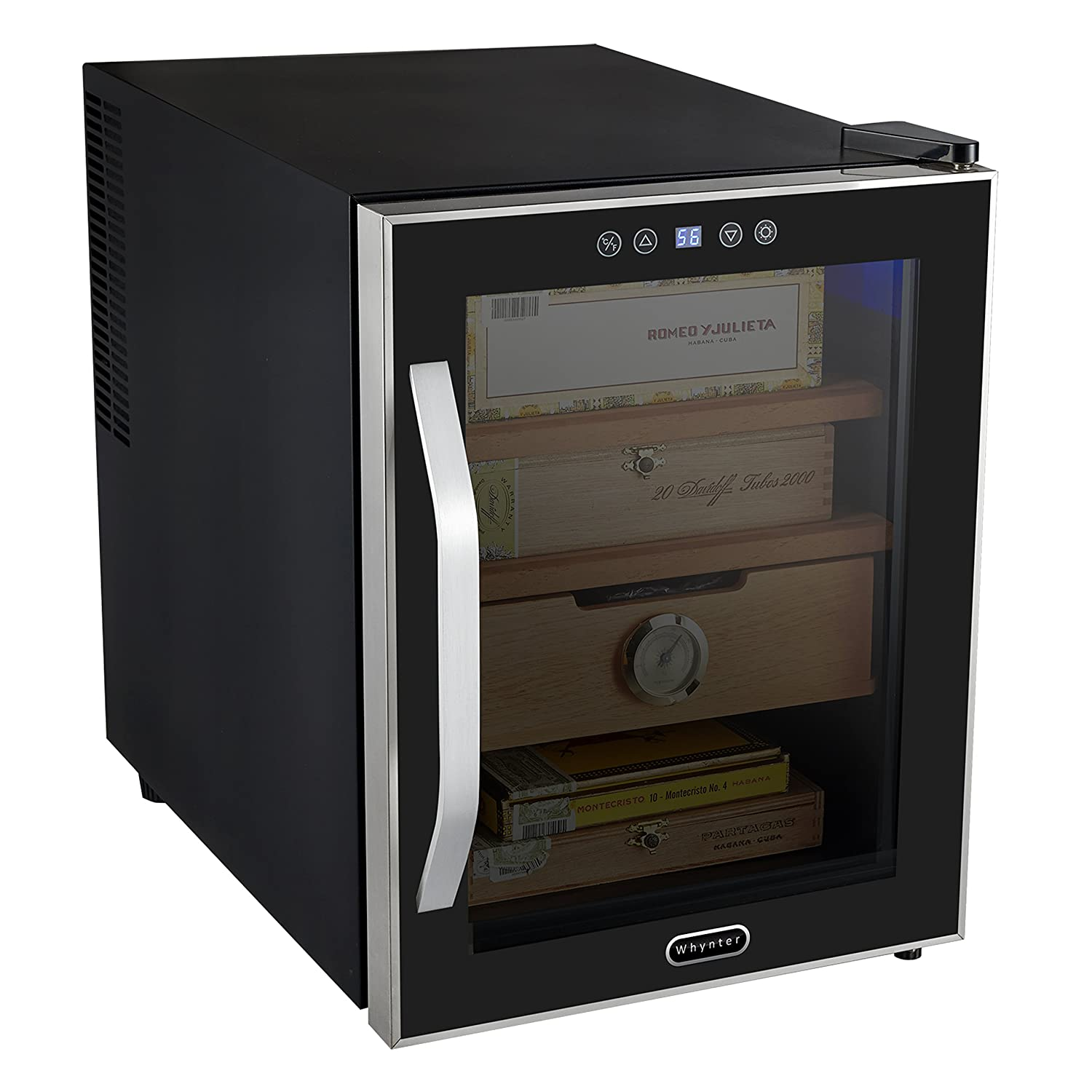 amazon com whynter chc 122bd elite touch control stainless cigar