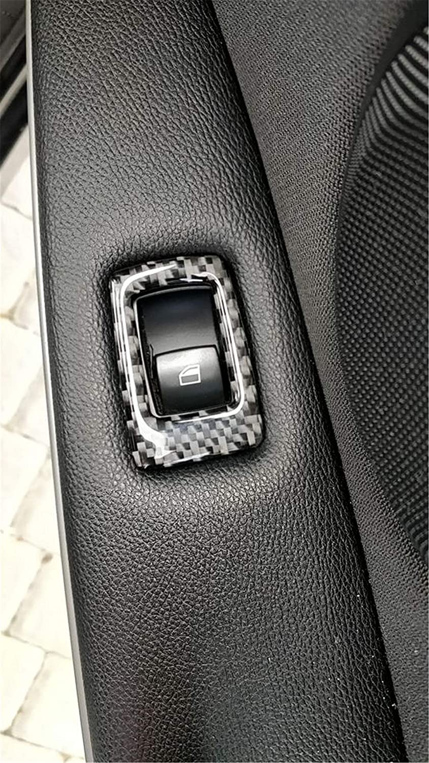 35.8cm with Mirror Hold Button Carbon Fiber Armrest Door Handle Window Lift Switch Button Panel Frame Decal Cover Trim for BMW 3 Series 5th E90 E91 E92 E93 315 318 320 323 325 328 2005-2013 9CC