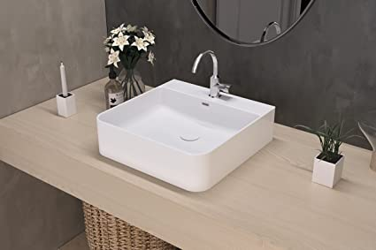 Art&Bath Eume lavabo porcelana sobre encimera 42x42x13