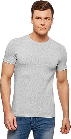 oodji Ultra Hombre Camiseta Básica Entallada: Amazon.es: Ropa y accesorios