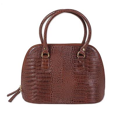 Novica Leather shoulder bag, Amazon Fish - Hand Crafted Leather Shoulder Bag