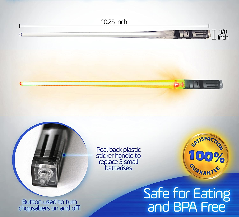 1 Pair, Blue ChopSabers Lightsaber Led Light Up Chopsticks