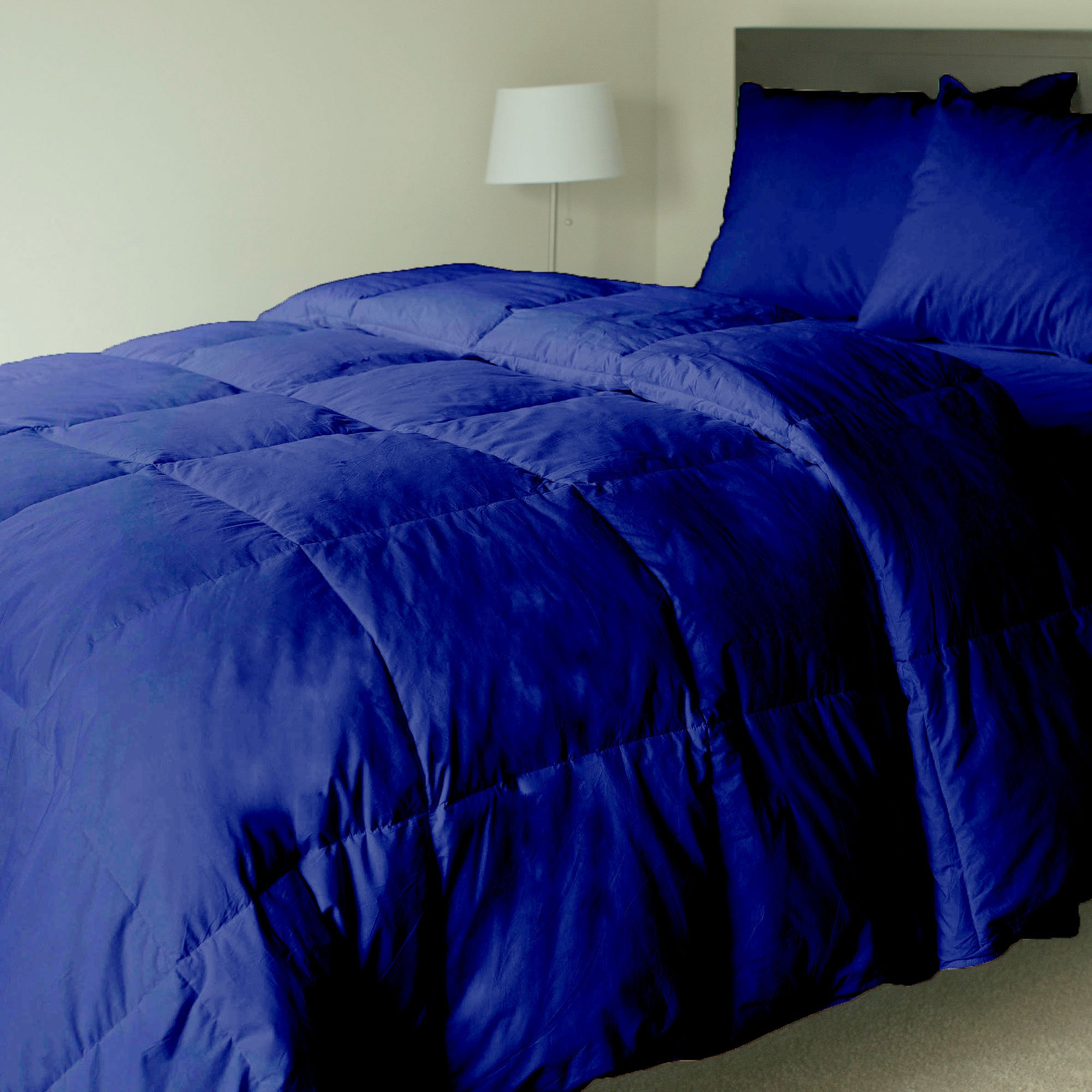 Luxurious and Premium Quality QUILTED Comforter 500 GSM GOTS Certified HEAVEN LIKE FEEL All-Season HYPOALLERGENIC Fluffy-Ultra-Soft-Lightweight,100% ORGANIC COTTON with Italian Finish(King-Navy blue)