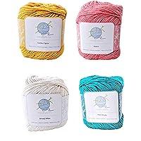 Tropical mindfulknits Knitting Yarn, Crochet Yarn & 100% Cotton Yarn for Knitting, Crocheting, Soft & Gentle Worsted…
