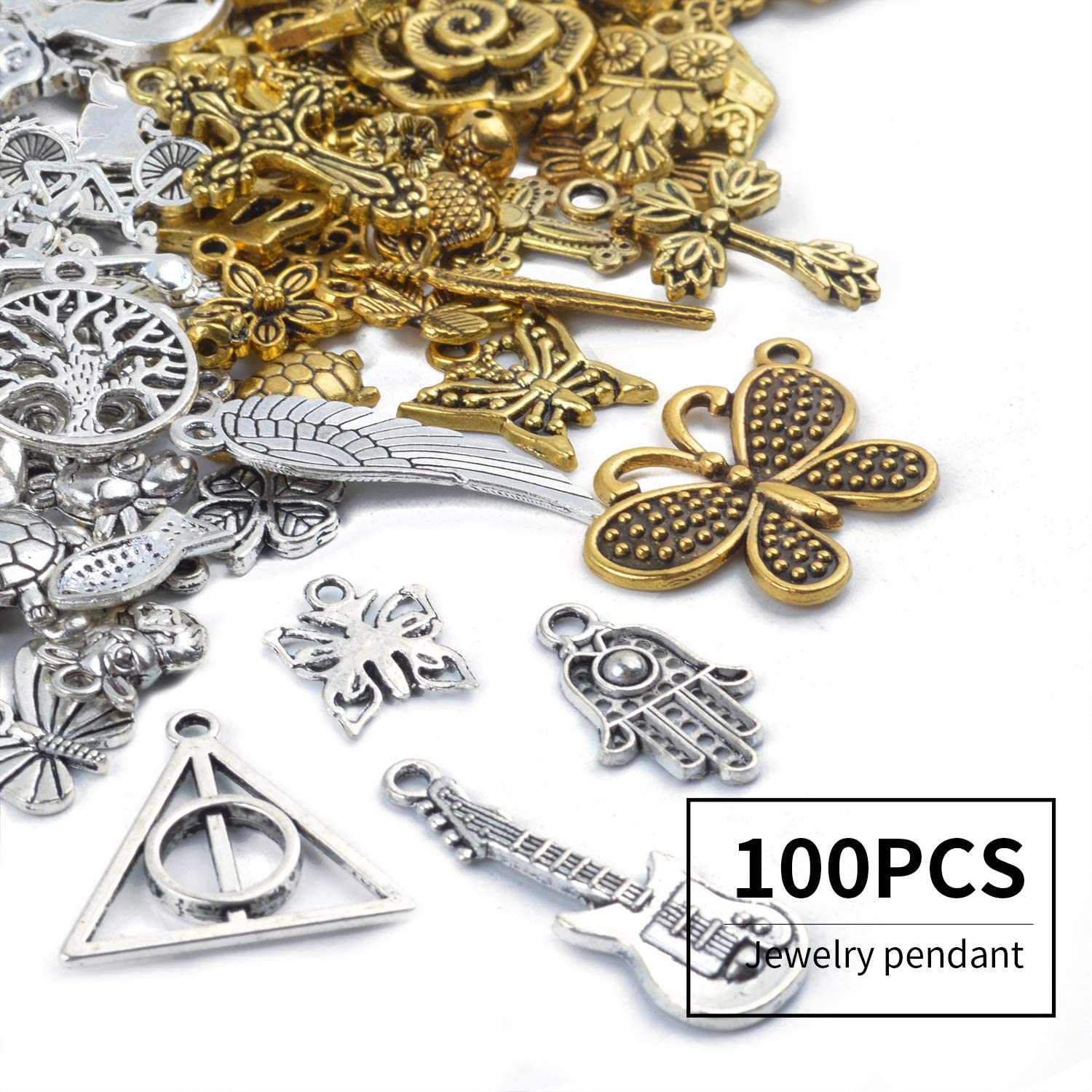 2 colors for choice---100 pieces 18mmx16mm metal anchor charmpendant for jewelry