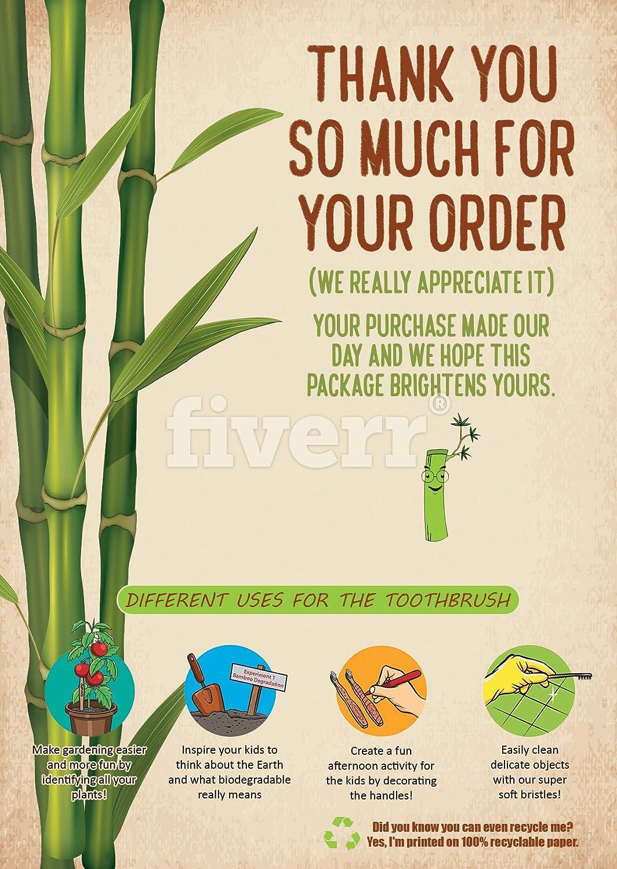 Niños cepillo de dientes de bambú-natural orgánico respetuoso del medio ambiente madera Ecológica biodegradable cepillo de dientes reciclables-mejora de ...